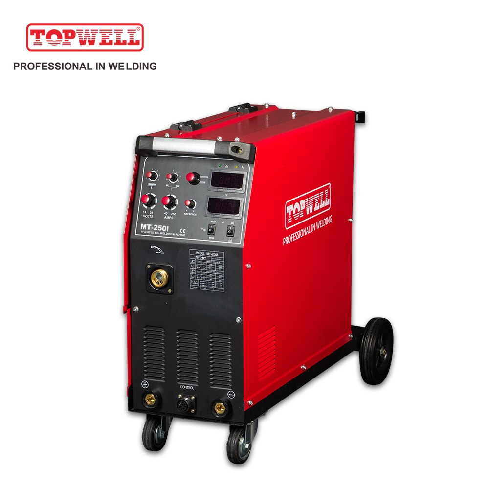 250Amp Co2 stainless steel MMA/TIG/MIG/ MAG welding machine MT-250i