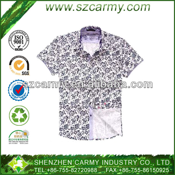 Man Floral Slim Fit Stylish Wholesale Flannel Shirt