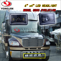 High low beam chrome and black 4x6 inch Square Led Headlight for truck Bus jeep