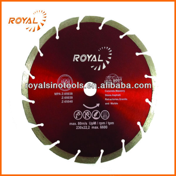 Fast Cutting Diamond Inclined Segment Marble Saw Blade