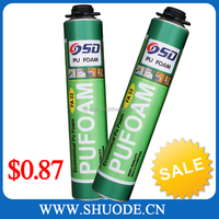 High density 750ml cheap spray sealant pu foam