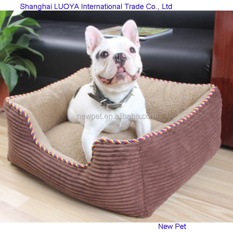 Durable service import grade cotton dog beds sofa baby pet dog bed lounging kennel