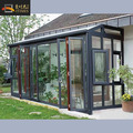 Slant aluminum alloy laminated tempered glass roof glass garden room