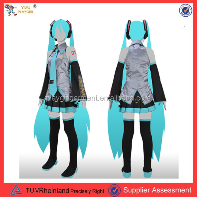 PGWC1363 2016 Hot Sale Vocaloid Hatsune Miku Cosplay Costume Anime Costume