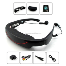 72 inch virtual glasses video glasses TV glasses with 4GB and AV IN Video eyewear FPV goggles mobile portable home theater