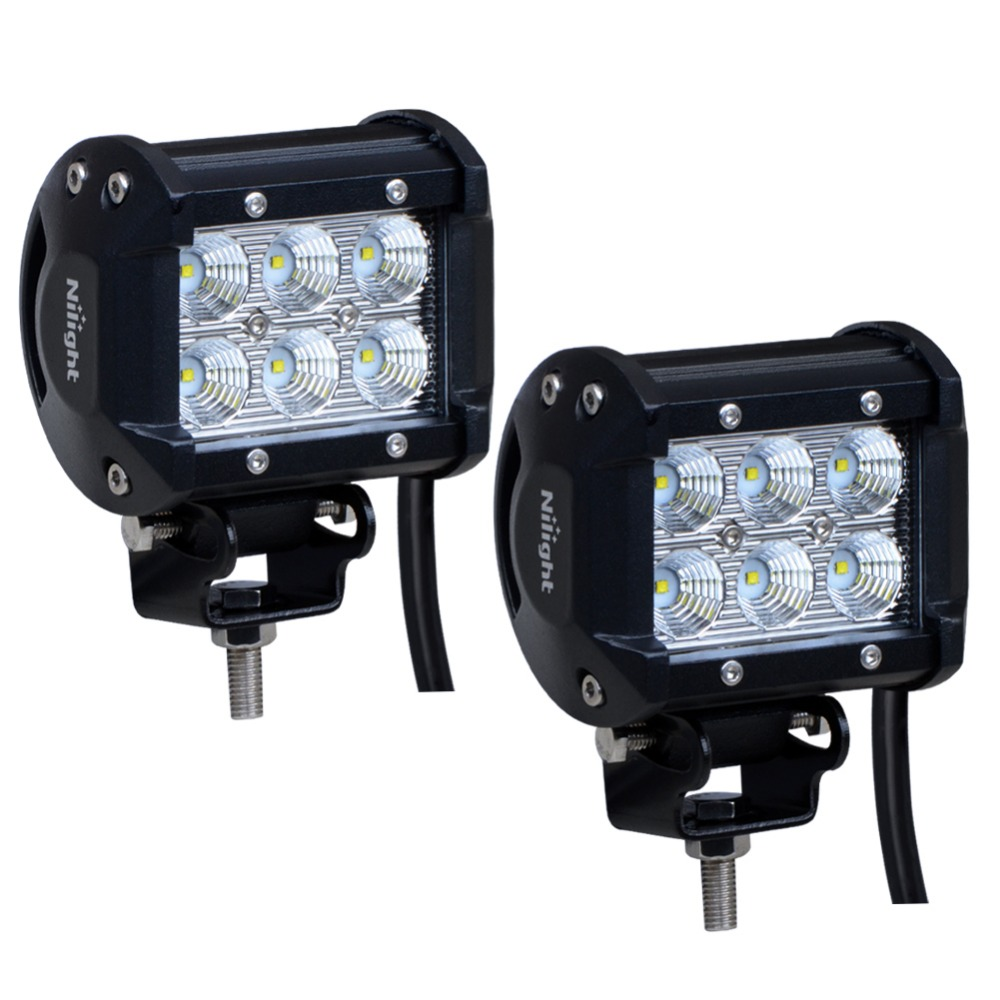 LED Lighting 12 Volt 18W 1530LM 4 inch LED Driving Lights for SUV Boat 4x4 Jeep Lamp 3WD ATV Fog Light