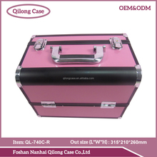 Pro aluminum metal suitcase hair beauty carrying cases