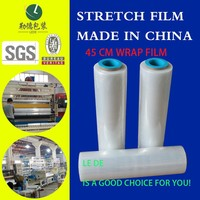23mic x 300m x 500mm high toughness PE Stretch Film Wrap Film With Best Price