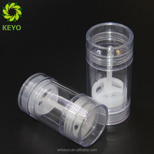 Deodorant wholesale tubes clear stick twist up deodorant container bottom filling for packaging