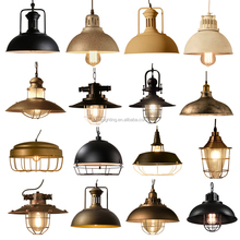 2017 vintage industrial classical hanging light with iron Material pendant lamp