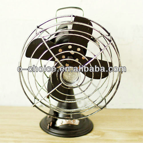 T-6 Most popular antique air fan metal craft garden decor