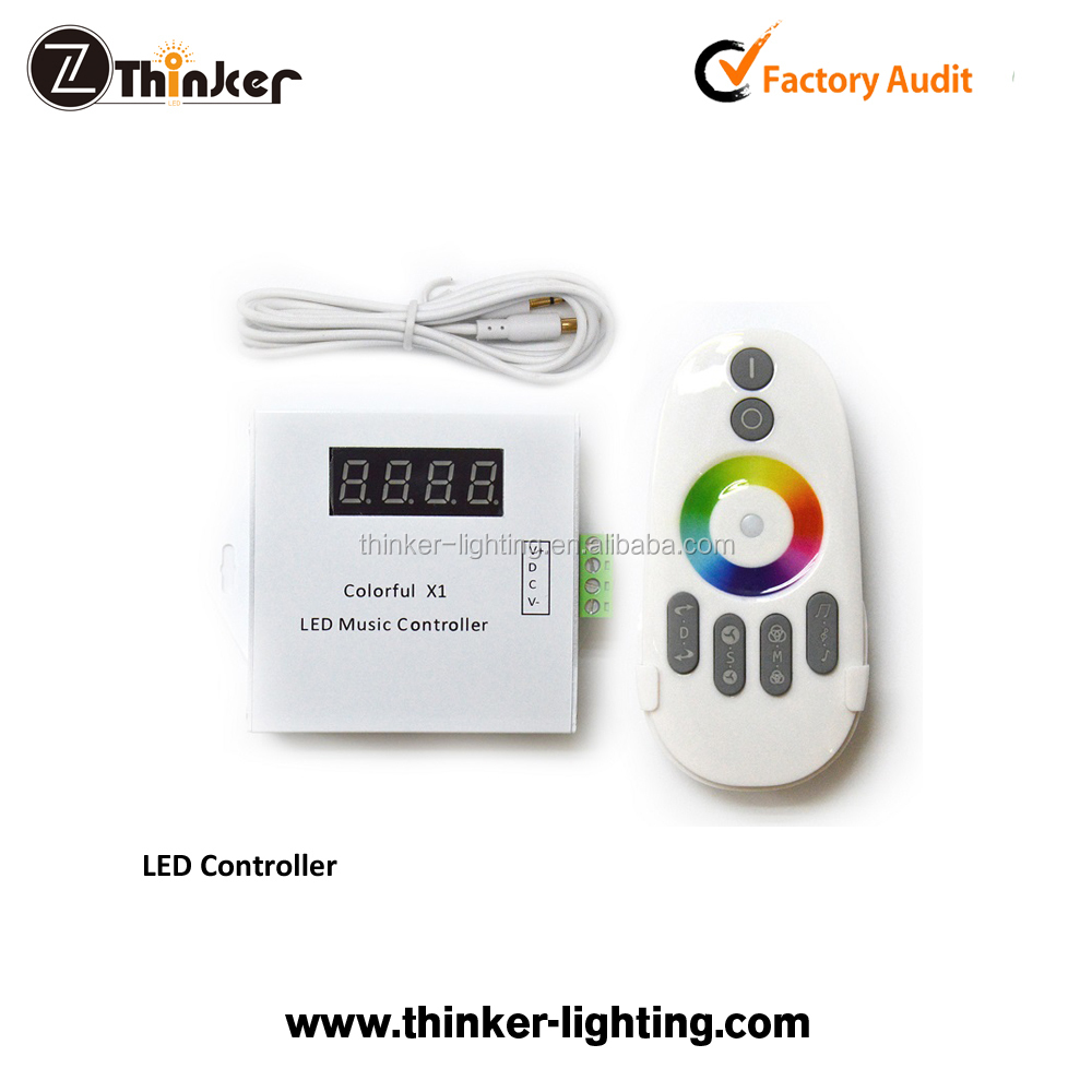 Thinker intelligent music controller 3.5MM audio with color adjust touching ring