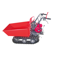 Garden mini crawler dumper walk behind push angle adjustable snow shovel