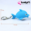 Marine animals led key ring Cartoon Dolphin Flashlight LED Key Chain