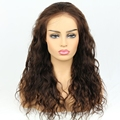 16in human hair full lace wig brown color wig