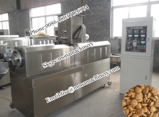 Stainless Steel Cooked well Dog Food Production Line Pet Feed Fish Feed