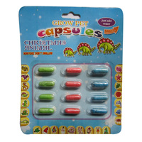 Manufacturer Outlet, Christmas Gift, 12pcs/Blister Card Colorful Magic Growing Dinosaur Capsule Toys for Children