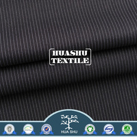 Wholesale Customizable composition Shrink resistant uniform blue and white stripe fabric