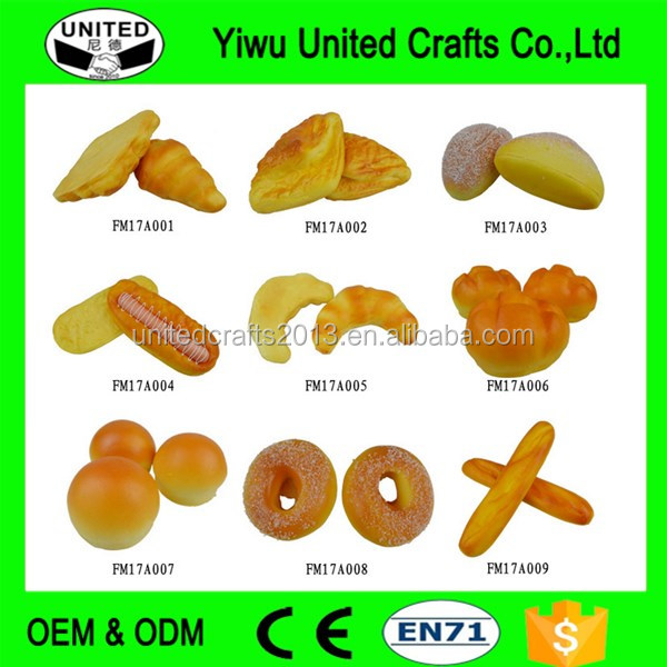 Customized decoration artificial fake bread food