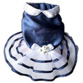 Dog Navy Wedding Dress Puppy Princess Dress Pet Dress Clothes