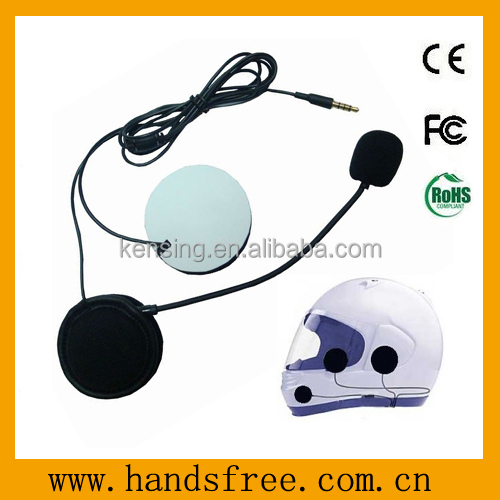Motorcycle headset with plastic speaker cover and microphone tube buy helmet headsets
