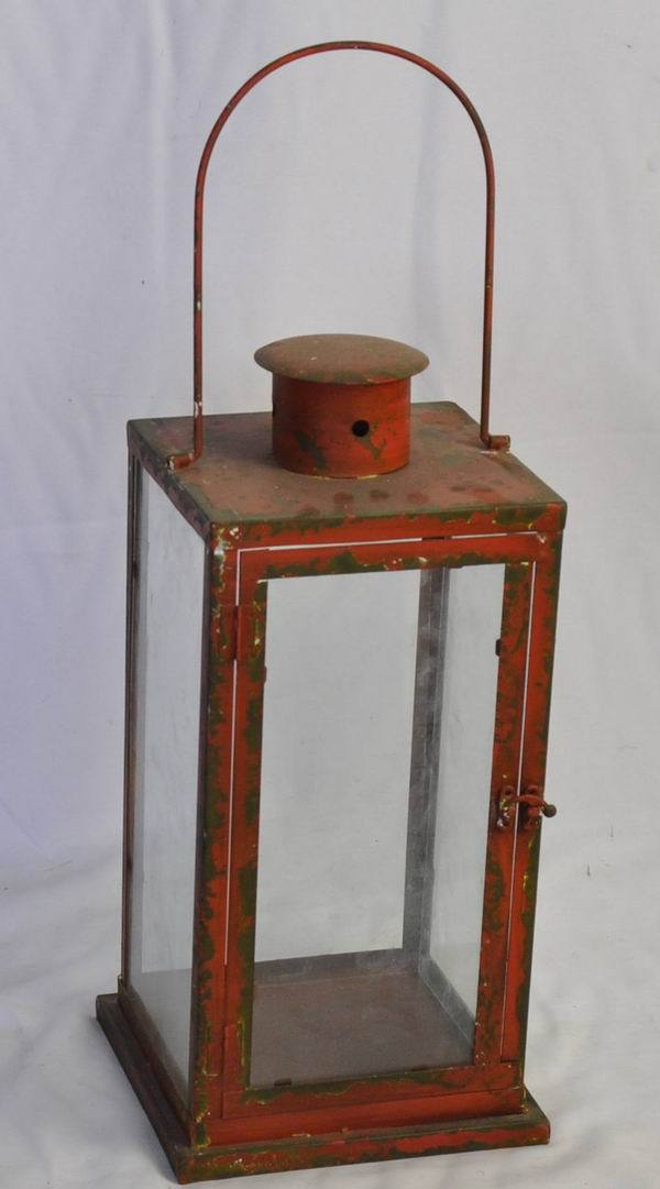 Antique red metal vintage lantern wholesale