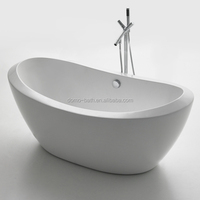 White Deeply Acrylic Walk In Bathtub For Adult People