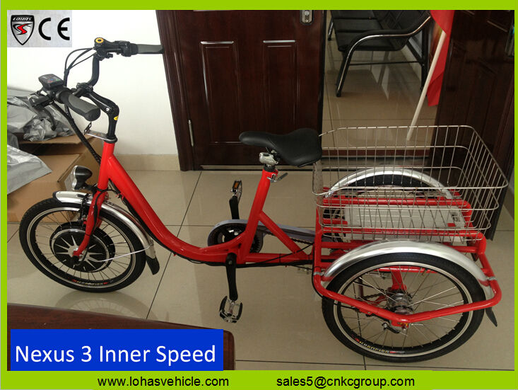 350w big front motor electric pedal tricycle motorized tricycles for sale