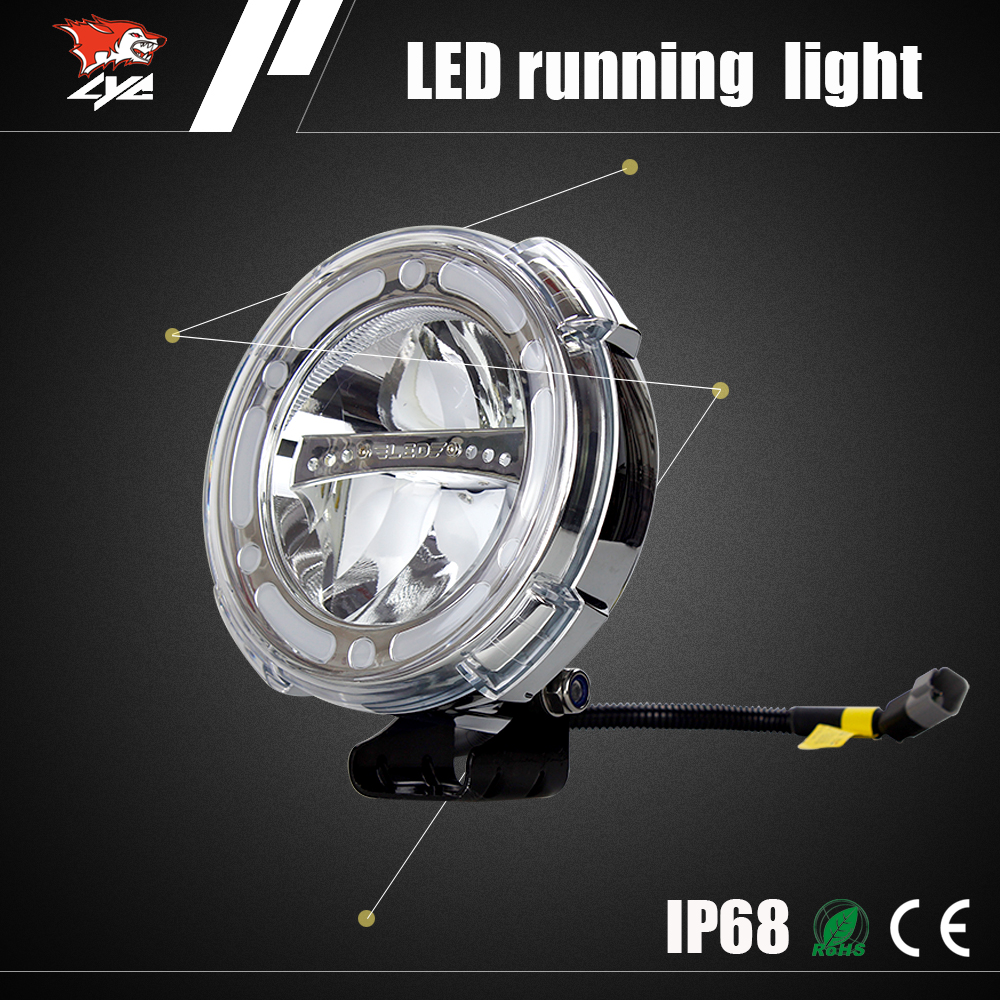 China off road motorcycle CE headlight 7 inch round led headlight a0101