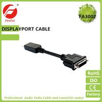 High quality DP to DVI cable adapter for HDTV support customized spec