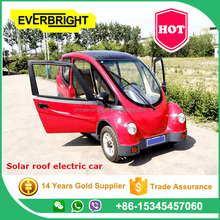 Solar roof electric car/3 seats city mini Solar electric car