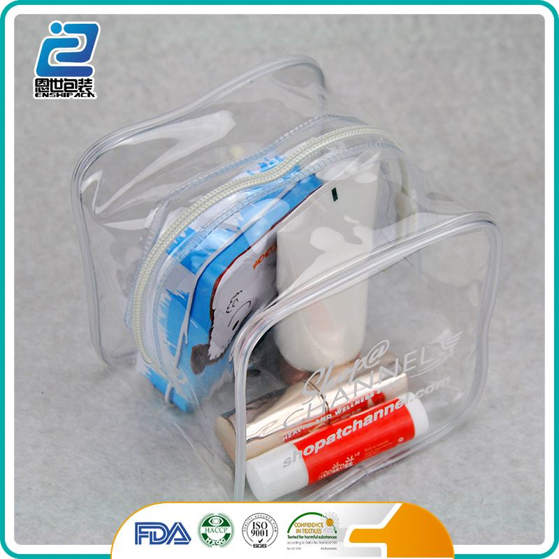 Wholesale mini custom clear pvc cosmetic bag