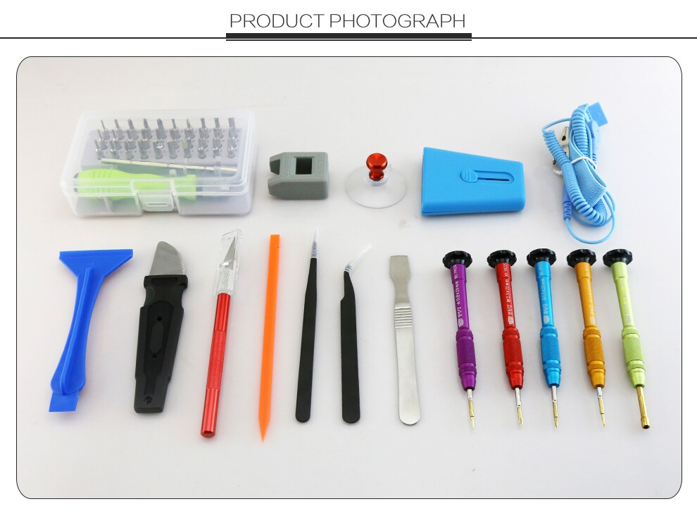 2017 Latest All in 1 Multi function Screwdriver Opening Pry Repair Tool Kit for iphone Laptop Computer Mobile Phone Repairing