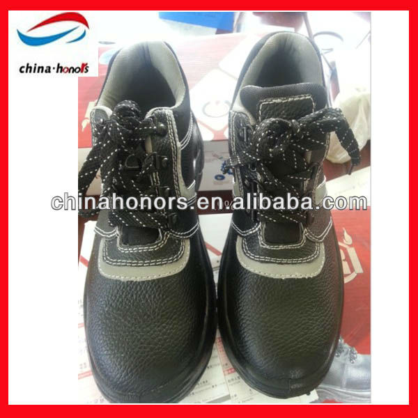 stylish leather safety shoes manufacturer/cheap industrial safety shoes
