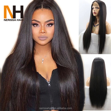 China Manufacturer Wholesale Lace Front Human Hair Wig For Black Women, Natutal Looking Human Hair Lace Wig With Baby Hair
