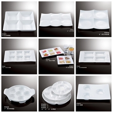 High quality food serving dishes plate ceramic porcelain divided plates
