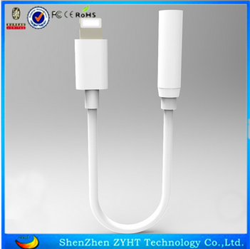 New Earphone Headset Charge Connecting Line Cable for Iphone 7/7 plus 3.5mmm audio Jack Adapter