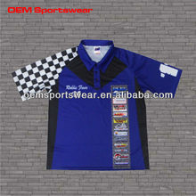 Cool design sublimation car racing shirts wholesale