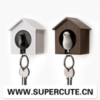 Replica single bird house keychain key ring for sale