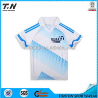cheap wholesale nice blue striped white soccer jersey