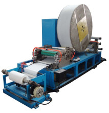 Automatic slitting and rewinding cigarette rolling papers machine