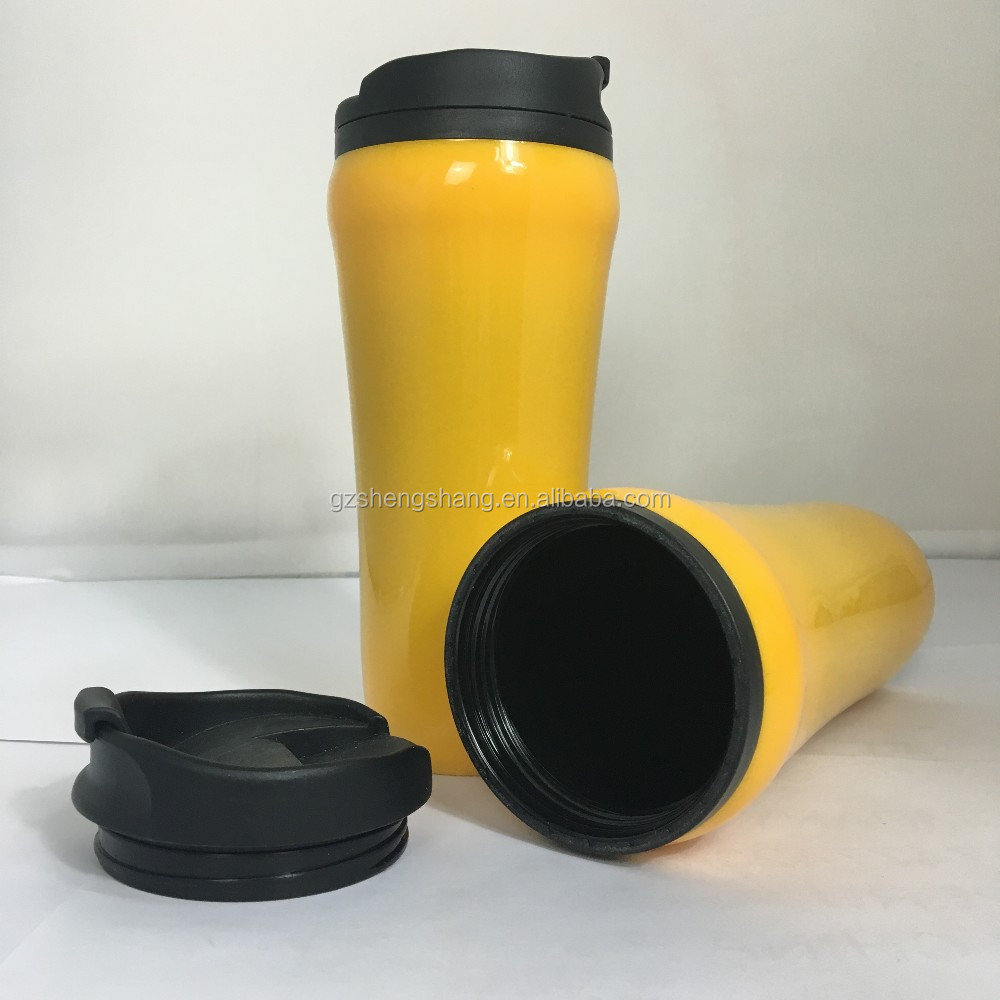 450ml eco friendly double wall insulated plastic starbuck travel coffee mug