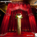 High quality crystal wedding hall decoration; Wedding backdrop decoration for event&party(MAH-003)