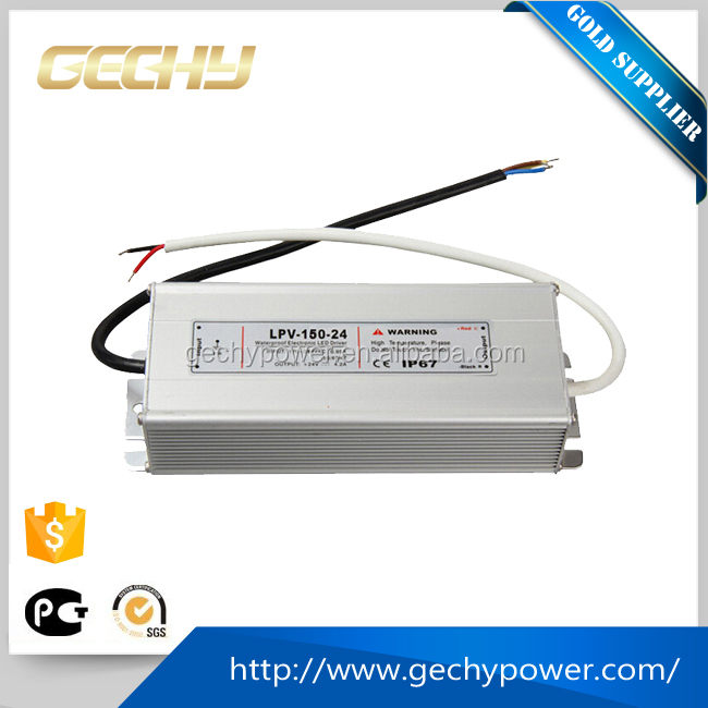 LPV-150-24v,0~6.3a,LPV series 150W 12v,15v,24v,IP67 AC/DC constant voltage led waterproof switching power supply LED driver