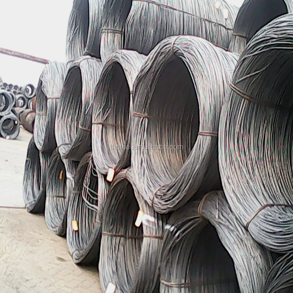 SAE1008/Q195 /SAE1006B/Q235 hot rolled low carbon alloy aluminium steel wire rod price