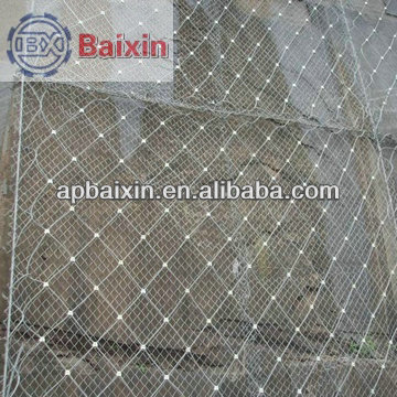 China factory supply hot sale railway embankment slope protection/stainless steel wire rope net,protective wire rope wire mesh