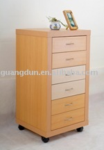 6 Drawers wooden hollowcore Document cabinet