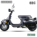 Retro 2000w electric moped with eec certificate for register on road