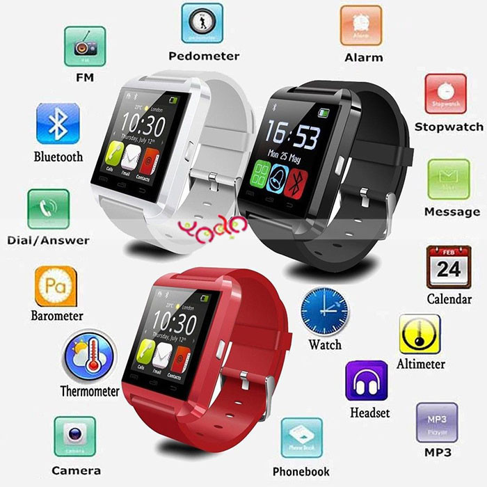 Free Sample Wholesale Touch Screen Cheap Health Care OEM Bluetooth U8 Smart Watch For Android And IOS Smat Watch 2016