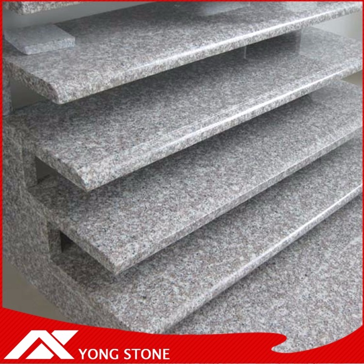 Customized natural stone G687 pink stairs for exterior decoration